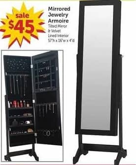 Freds Black Friday: Mirrored Jewelry Armoire for $45.00