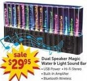 Freds Black Friday: Dual Speaker Magic Water & Light Sound Bar for $29.95