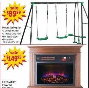 Freds Black Friday: Metal Swing Set for $89.99