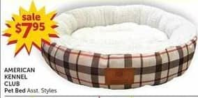 Freds Black Friday: American Kennel Club Pet Bed Asst. Styles for $7.95