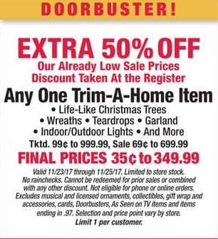 Boscov's Black Friday: Any One Trim-A-Home Item - Extra 50% Off