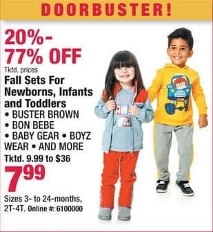 Boscov's Black Friday: Fall Sets for Newborns, Infants and Toddlers for $7.99