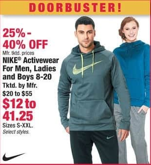 Boscov's Black Friday: Nike Activewear for Men, Ladies and Boys 8-20 - 25-40% Off