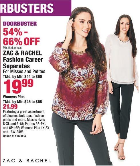 Boscov's Black Friday: Zac & Rachel Fashion Career Separates for $19.99 - $21.99