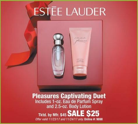 Boscov's Black Friday: Estee Lauder Pleasures Captivation Duet Eau de Parfum Spray and Body Lotion for $25.00