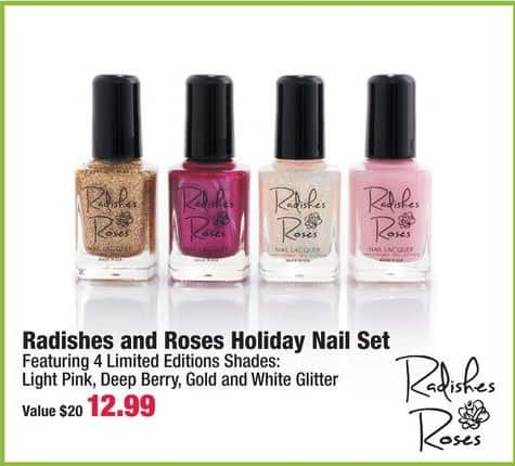 Boscov's Black Friday: Radishes and Rose Holiday Nail Set for $12.99