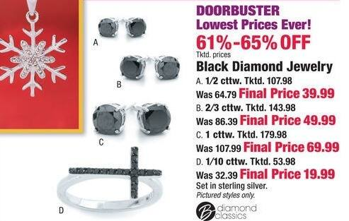 Boscov's Black Friday: Black Diamond Jewelry - 61-65% Off