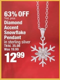 Boscov's Black Friday: Diamond Accent Snowflake Pendant in Sterling Silver for $12.99