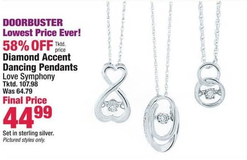 Boscov's Black Friday: Diamond Accent Dancing Pendants for $44.99