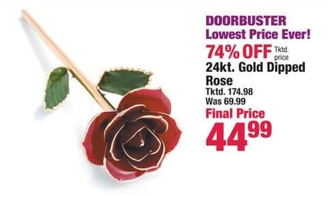 Boscov's Black Friday: 24 Kt. Gold Dipped Rose for $44.99