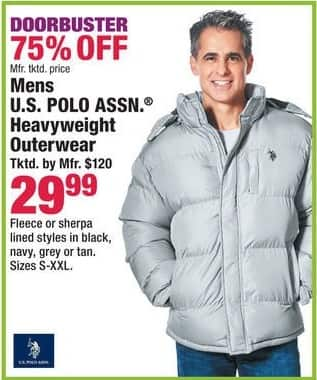 Boscov's Black Friday: Mens U.S. Polo Assn. Heavyweight Outerwear for $29.99