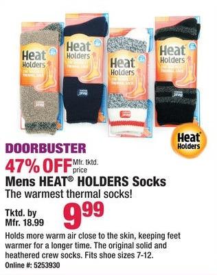 Boscov's Black Friday: Mens Heat Holders Socks for $9.99