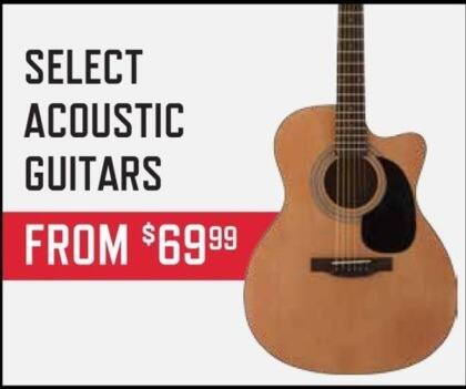 Music & Arts Black Friday: Select Acoustic Guitars - From $69.99