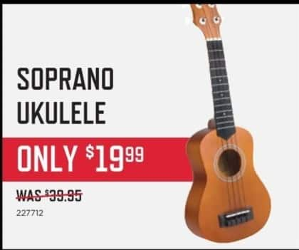 Music & Arts Black Friday: Soprano Ukulele for $19.99