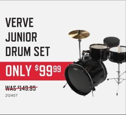 Music & Arts Black Friday: Verve Junior Drum Set for $99.99