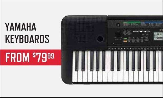Music & Arts Black Friday: Yamaha Keyboards - From $79.99