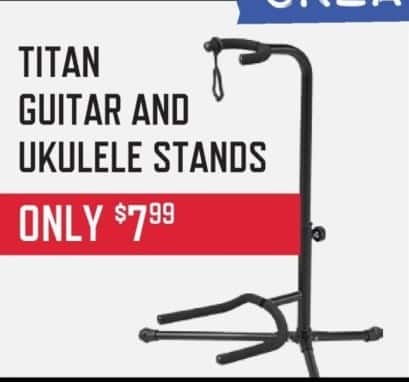 Music & Arts Black Friday: Titan Guitar and Ukulele Stands for $7.99