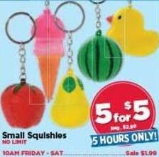 AC Moore Black Friday: ( 5 ) Small Squishes for $5.00
