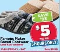 AC Moore Black Friday: Famous Maker Boxed Footwear for $5.00