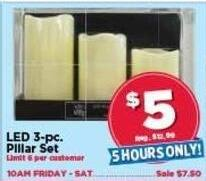 AC Moore Black Friday: LED 3-pc. Pillar Set for $5.00