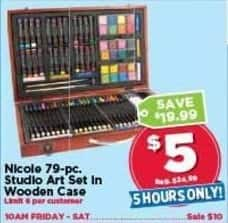 AC Moore Black Friday: Nicole 79-pc. Studio Art Set in Wooden Case for $5.00