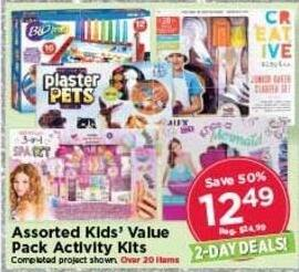 AC Moore Black Friday: Assorted Kids' Value Pack Activity Kits for $12.49