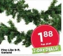 AC Moore Black Friday: Pine-Like 9-ft. Garland for $1.88