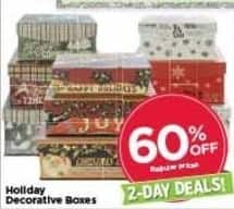 AC Moore Black Friday: Holiday Decorative Boxes - 60% Off