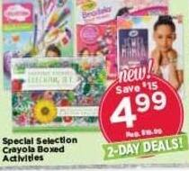 AC Moore Black Friday: Special Selection Crayola Boxed Activities for $4.99
