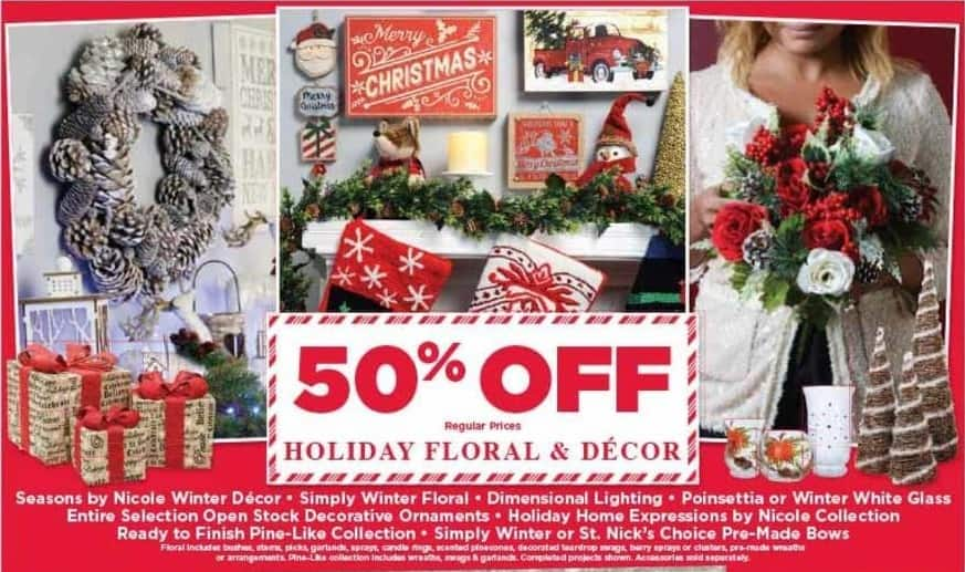 AC Moore Black Friday: Holiday Floral & Decor - 50% Off