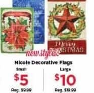 AC Moore Black Friday: Nicole Decorative Flags for $5.00 - $10.00