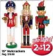 "AC Moore Black Friday: ( 2 ) 15"" Nutcrackers for $12.00"