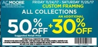 Ac Moore Black Friday All Collections Custom Framing 50 Off 30