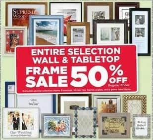 AC Moore Black Friday: Entire Selection Wall and Tabletop Frame Sale - 50% Off