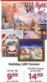 AC Moore Black Friday: Holiday LED Canvas for $9.99 - $14.99