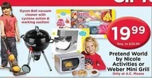 AC Moore Black Friday: Pretend World by Nicole Activities or Weber Mini Grill for $19.99