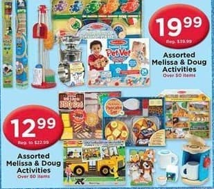 AC Moore Black Friday: Assorted Melissa & Doug Activies for $12.99 - $19.99