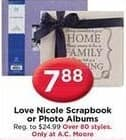 AC Moore Black Friday: Love Nicole Scrapbook or Photo Albums for $7.88