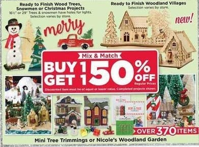 AC Moore Black Friday: Mini Tree Trimmings or Nicole's Woodland Garden - B1G1 50% Off
