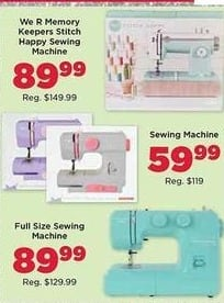 AC Moore Black Friday: Select Sewing Machines for $59.99 - $89.99