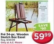 AC Moore Black Friday: Pre 34 pc. Wooden Sketch Box Easel for $59.99