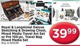 AC Moore Black Friday: Royal & Langnickel Deluxe Sketching & Drawing Chest, Mixed Media Travel Art Set or Pre 105 pc Travel Bag Mixed Media Set for $39.99