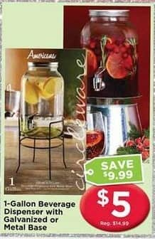 AC Moore Black Friday: 1 Gallon Beverage Dispenser w/ Galvanized or Metal Base for $5.00