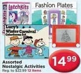AC Moore Black Friday: Latch Kits, Fashion Plates and Lucys Winter Carnival Activities for $14.99