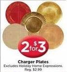 AC Moore Black Friday: ( 2 ) Charger Plates for $3.00