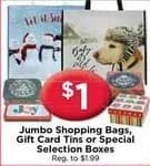 AC Moore Black Friday: Jumbo Shopping Bags, Gift Cards or Special Selection Boxes for $1.00