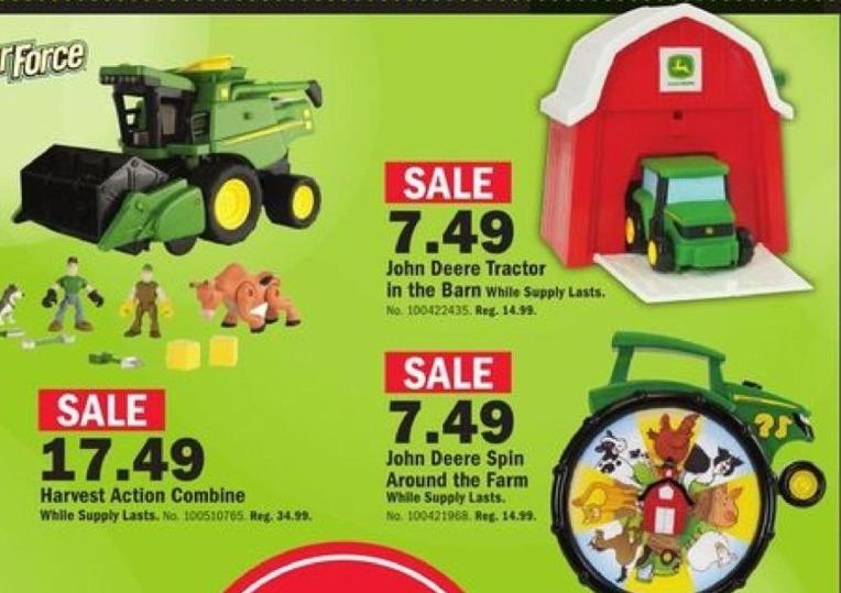 Mills Fleet Farm Black Friday: Gear Force Harvest Action Combine for $17.49