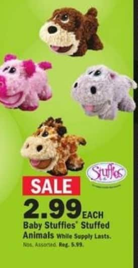 Mills Fleet Farm Black Friday: Baby Stuffies Stuffed Animals for $2.99