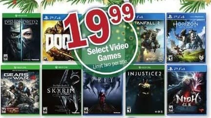 Meijer Black Friday: Dishonored 2, TitanFall2, Injustice 2, The Elder Scrolls V Skyrim And More Xbox One and PS4 Games for $19.99