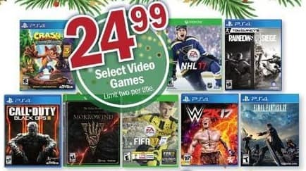 Meijer Black Friday: NHL17, W2K17, Call of Duty Black Ops, Rainbow Six Siege and More Xbox One and PS4 Games for $24.99